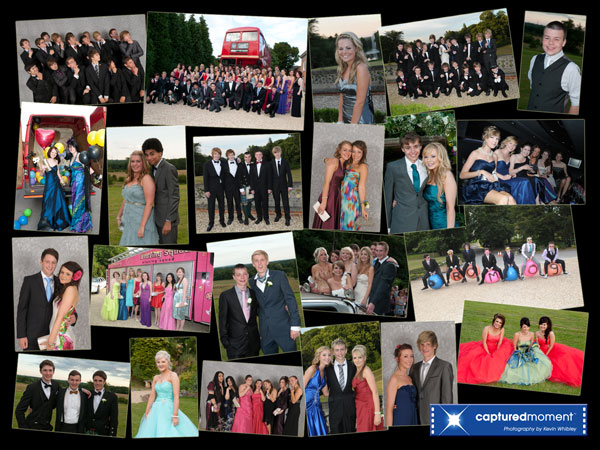 School Prom Group, Couples , arrival and individual photographs